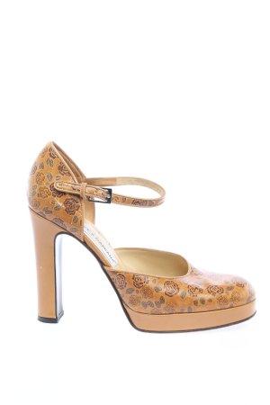 Dolce & Gabbana High Heels hellorange-braun Allover-Druck Elegant