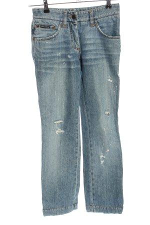 Dolce & Gabbana High Waist Jeans blau Casual-Look