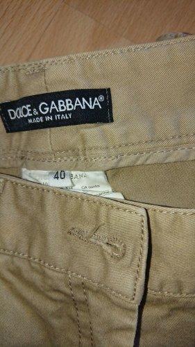 Dolce Gabbana, Hose, Beige, Gr 40, Gerades Bein,