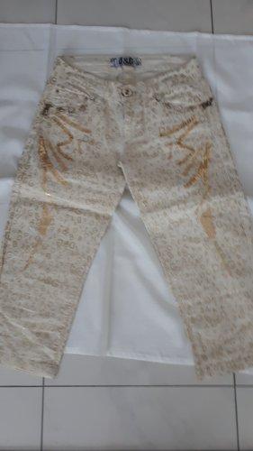 Dolce & Gabbana Pantalone a 3/4 oro-bianco sporco
