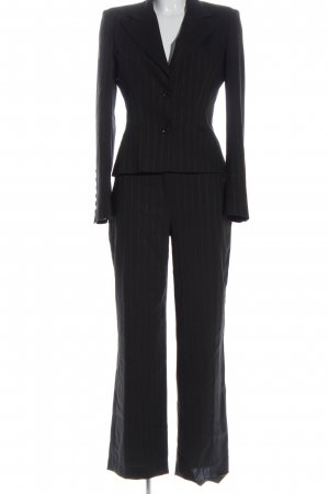 Dolce & Gabbana Traje de pantalón gris claro-naranja claro estampado a rayas