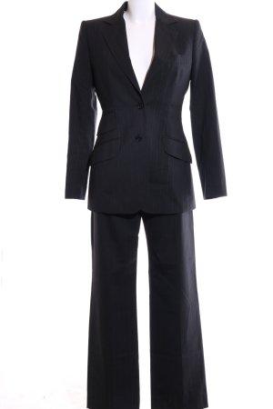 Dolce & Gabbana Trouser Suit black striped pattern business style