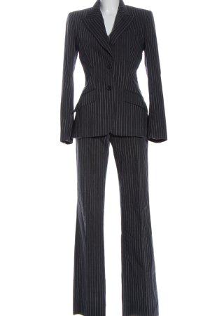 Dolce & Gabbana Traje de pantalón gris claro estampado a rayas