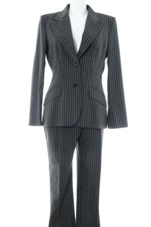 Dolce & Gabbana Hosenanzug dunkelgrau-weiß Business-Look