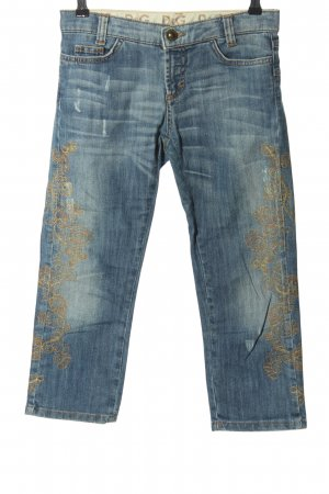 Dolce & Gabbana Low-Rise Trousers blue-gold-colored casual look