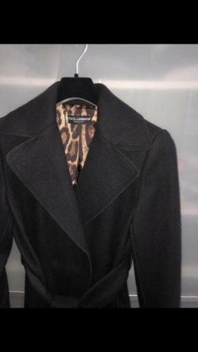 Dolce & Gabbana Fleece Coats black