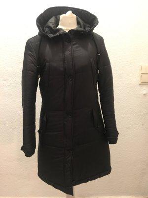 Dolce & Gabbana Hooded Coat black mixture fibre