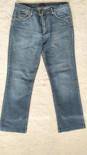 Dolce & Gabanna Jeansy z prostymi nogawkami stalowy niebieski-chabrowy Bawełna