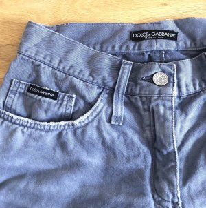 Dolce & Gabbana Jeans in Grau, neuwertig, Größe 34