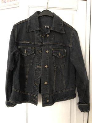 Dolce & Gabbana Veste en jean noir-gris ardoise