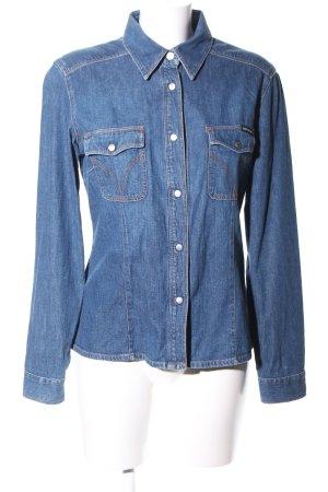 Dolce & Gabbana Camisa vaquera azul look casual