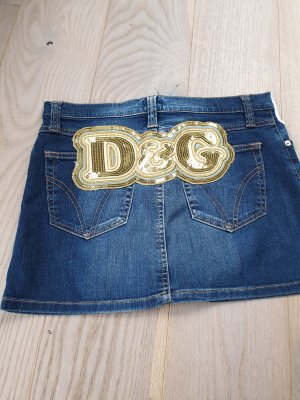 Dolce & Gabbana Denim Skirt gold-colored-blue