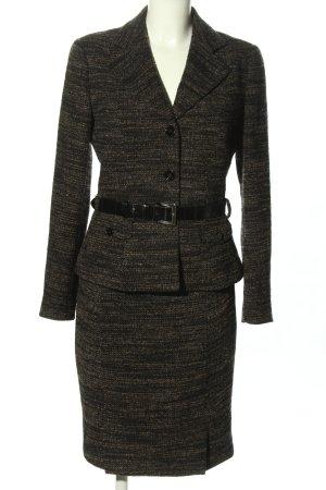 Dolce & Gabbana Twin set in jersey nero puntinato stile casual