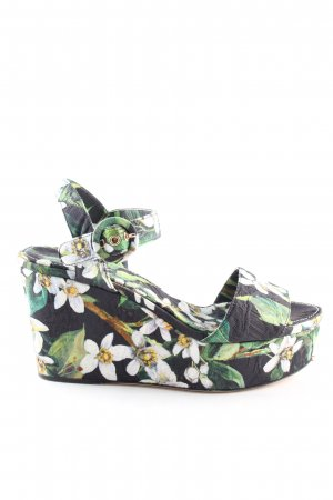 Dolce & Gabbana Keil-Pumps Blumenmuster Casual-Look