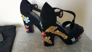 Dolce & Gabbana Platform Sandals multicolored suede