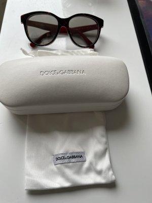 Dolce & Gabbana Owalne okulary przeciwsłoneczne bordo-czarny