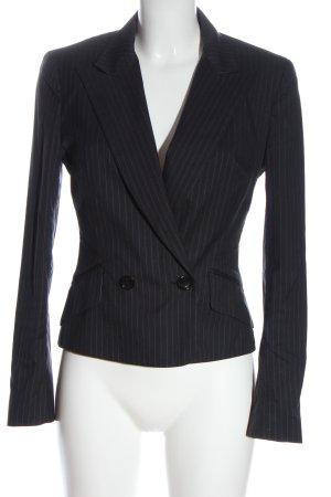 Dolce & Gabbana Klassischer Blazer negro estampado a rayas estilo «business»