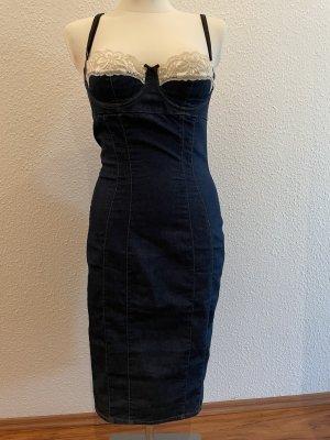Dolce & Gabbana Vestido a media pierna azul oscuro