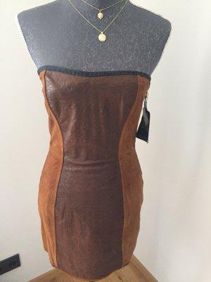 Dolce Gabbana Kleid Calfskin Ungetragen Leder Luxus