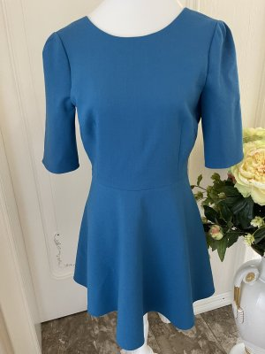 Dolce & Gabbana Vestido de manga corta azul acero