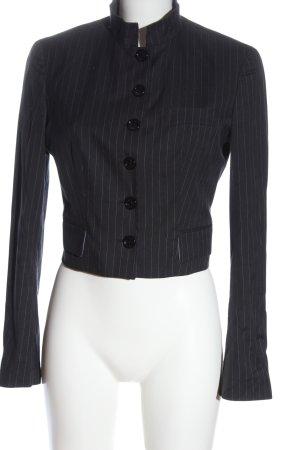 Dolce & Gabbana Blazer corto gris claro estampado a rayas estilo «business»
