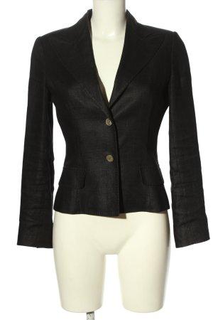 Dolce & Gabbana Korte blazer zwart gestippeld zakelijke stijl