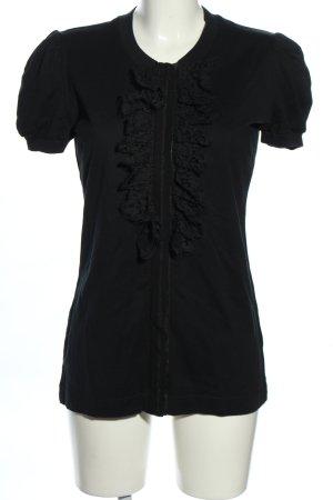 Dolce & Gabbana Blouse à manches courtes noir style d'affaires