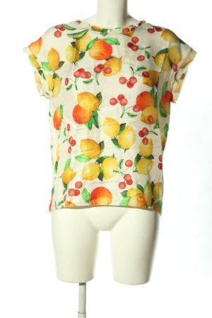 Dolce & Gabbana Kurzarm-Bluse Motivdruck Casual-Look