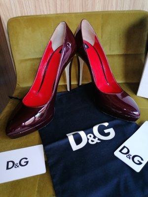 Dolce&Gabbana Lackleder Pumps high heels Gr. 38 wie neu