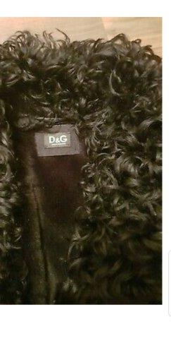 Dolce & Gabbana Manteau de fourrure noir pelage