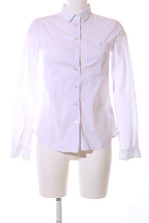 Dolce & Gabbana Langarm-Bluse weiß Streifenmuster Business-Look