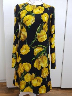 dolce gabbana langarm kleid mit Blumen