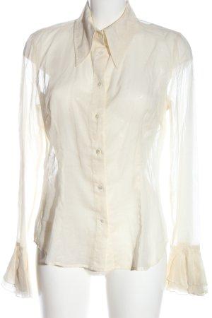 Dolce & Gabbana Camisa de manga larga blanco puro elegante