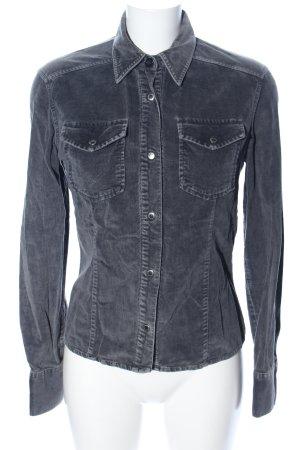 Dolce & Gabbana Camisa de manga larga gris claro look casual