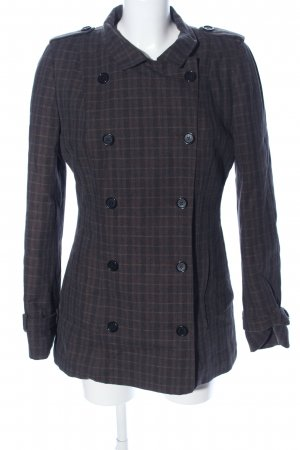 Dolce & Gabbana Long Jacket black-brown check pattern casual look