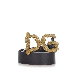 Dolce & Gabbana Cinturón negro Cuero