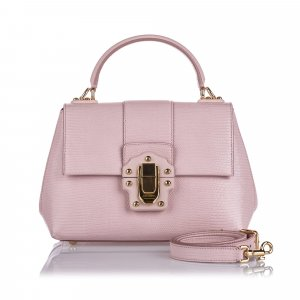 Dolce & Gabbana Cartella rosa pallido Pelle