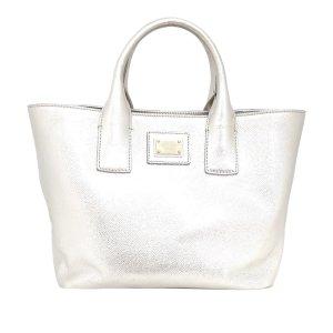 Dolce & Gabbana Bolso de compra blanco Cuero