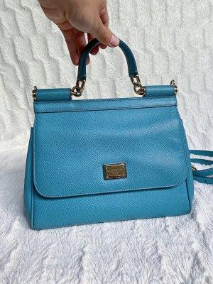 Dolce & Gabbana Leder Sicily Blaue Damentasche, Handtasche, Tragetasche