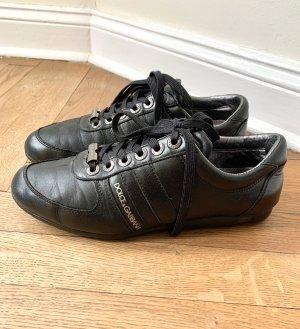 Dolce & Gabbana Leder Sneaker in schwarz , gr 38,5