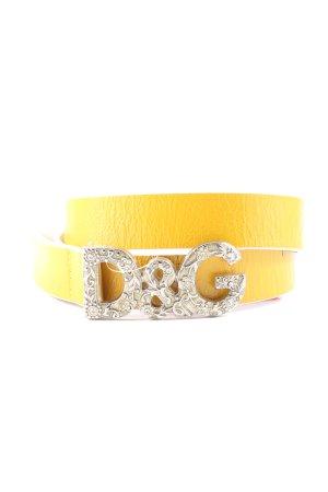 Dolce & Gabbana Leather Belt primrose-silver-colored elegant