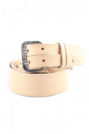 Dolce & Gabbana Leather Belt cream casual look