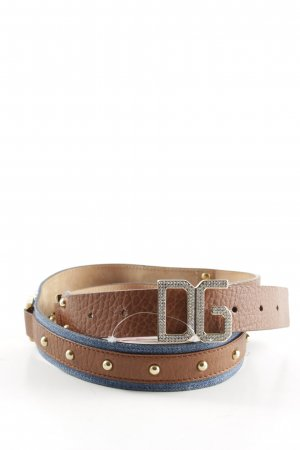 Dolce & Gabbana Leather Belt blue-brown casual look