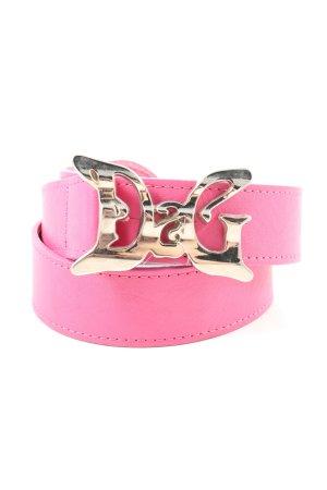 Dolce & Gabbana Cinturón de cuero rosa estilo fiesta