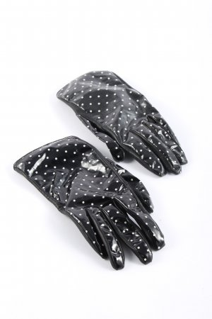 Dolce & Gabbana Lederhandschuhe schwarz-weiß Punktemuster Casual-Look
