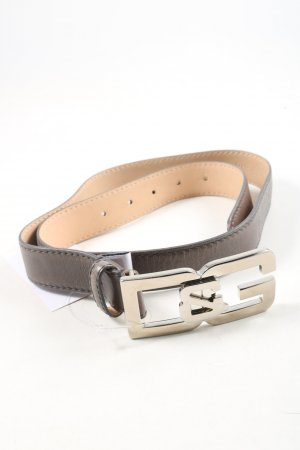 Dolce & Gabbana Faux Leather Belt brown casual look