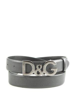 Dolce & Gabbana Lederimitatgürtel schwarz Casual-Look