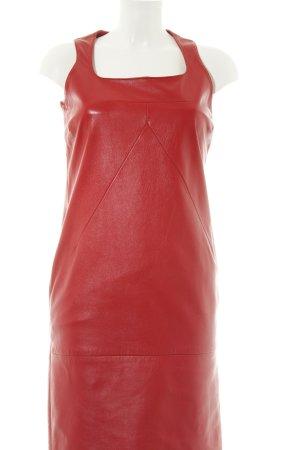 Dolce & Gabbana Lederkleid rot extravaganter Stil