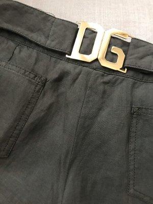 Dolce & Gabbana Pantalone di lino verde scuro