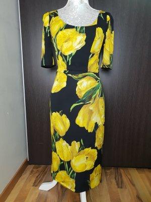 Dolce Gabbana Lemon Zitrone Kleid aus Seide